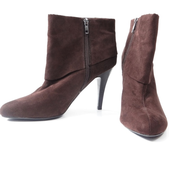 71508ef53 Marc Fisher Shoes | Vallay Sued Cuffed Ankle Booties | Poshmark